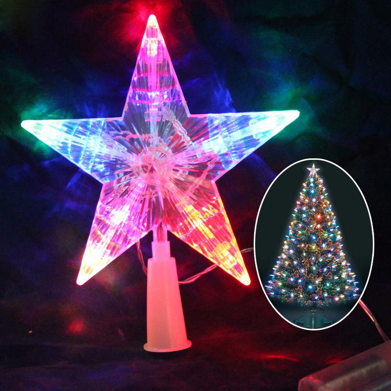 Christmas Tree 3D Star Topper Light up Battery Operated ...