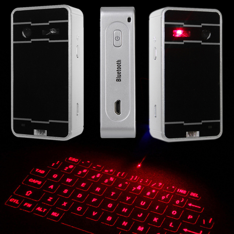 laser projected keyboard Our laser projection virtual keyboard transforms a flat surface into an instant work station so you can type up a storm any time you want.