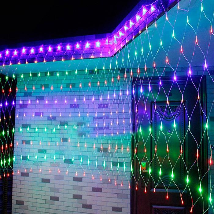 3x3M 300 LED Net Curtains Fairy String Mesh Lights Xmas Roof Ceiling Garden Tree eBay