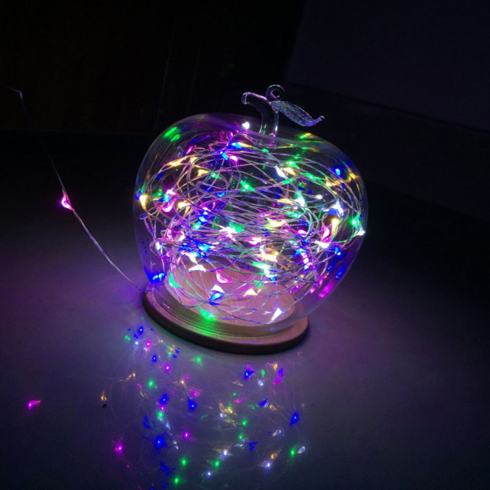 Led String Lights For Crafts : 20 Pink Crystal Heart Shaped Micro Led Fairy String Lights Wedding Crafts Plants eBay