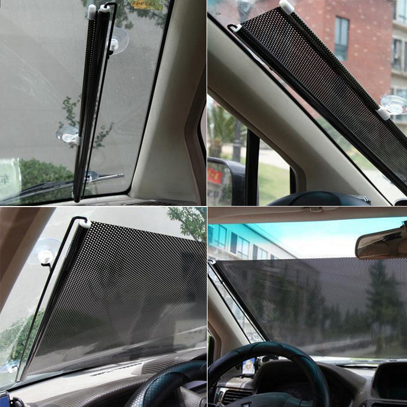 2 x 60cm car window sun shade roller blind screen protector protection children ebay. Black Bedroom Furniture Sets. Home Design Ideas