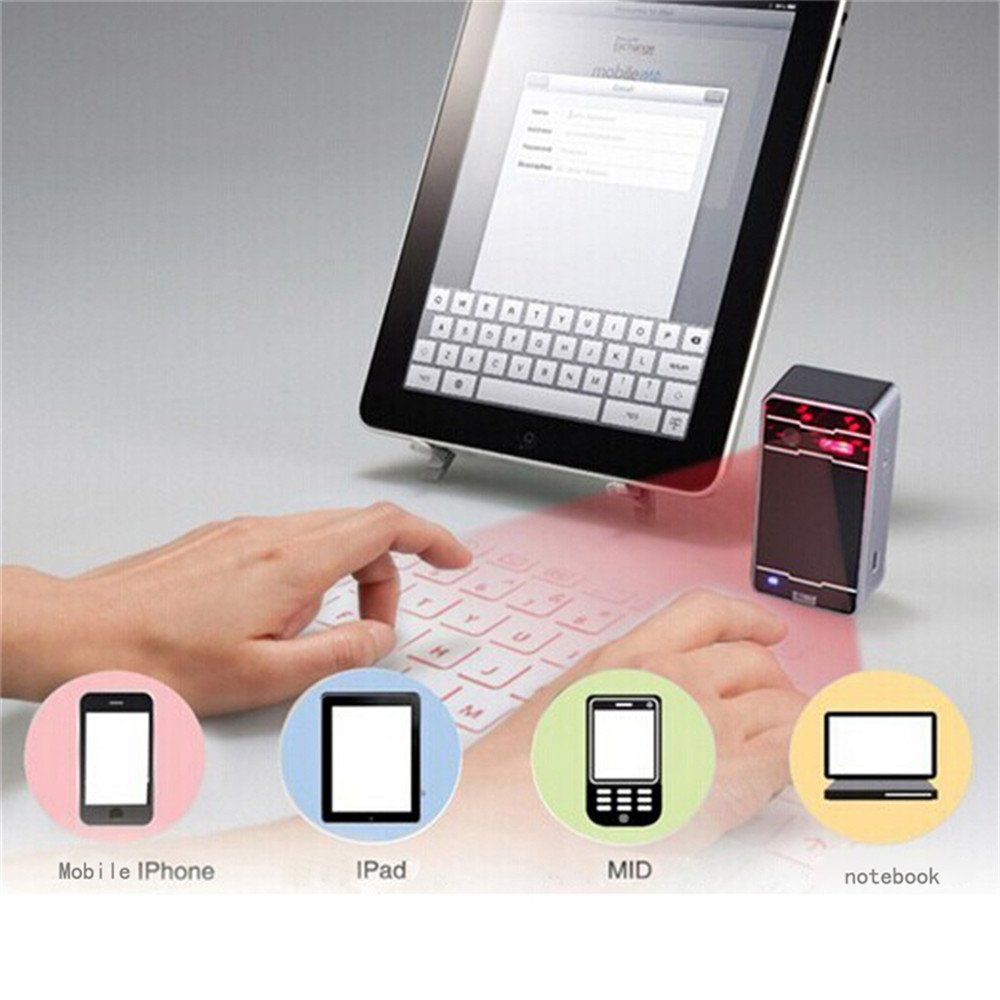 Mini bluetooth virtual laser projector keyboard for for Bluetooth projector for iphone 6