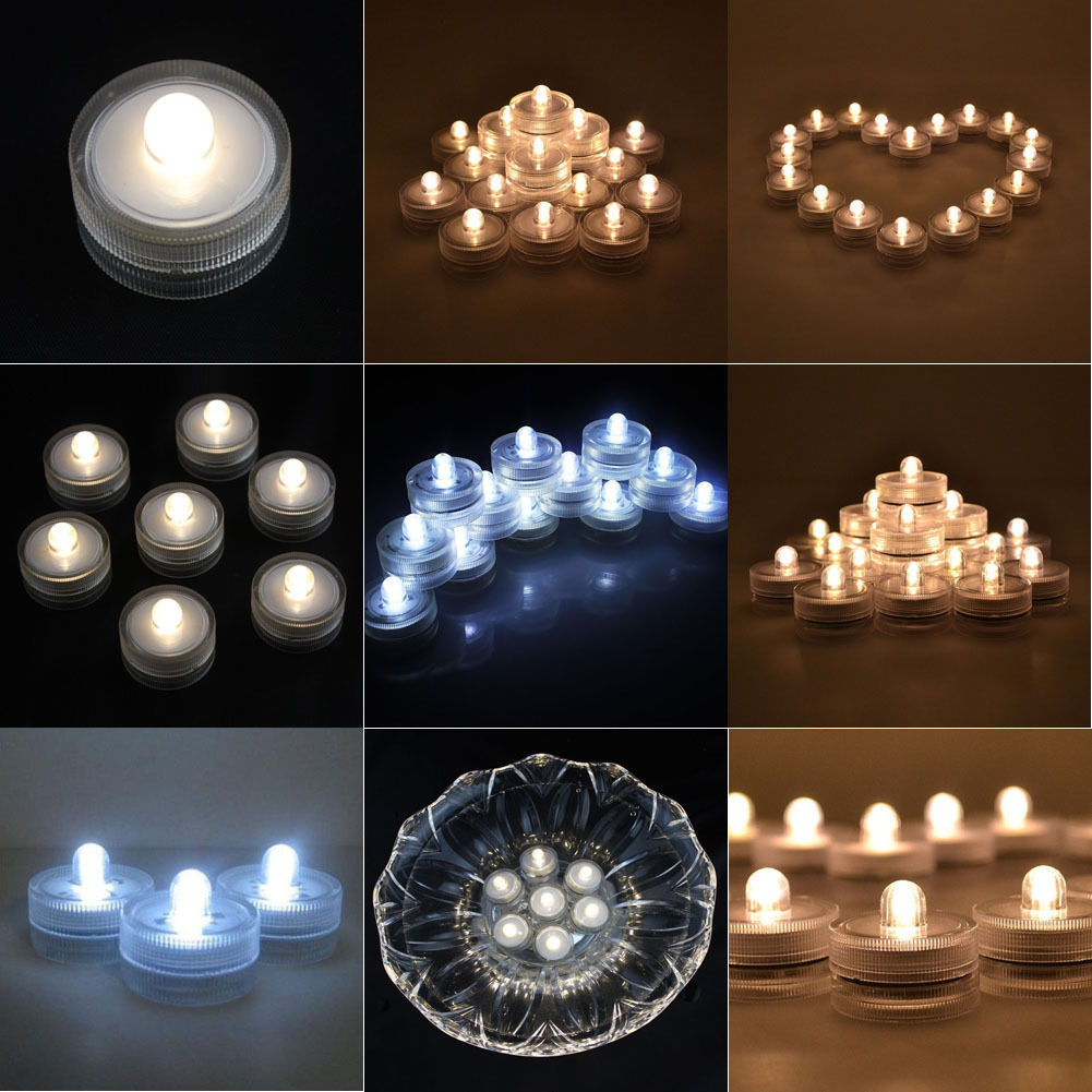 Underwater waterproof led decor candle lights wedding party christmas warm white ebay - Appealing christmas led candles for christmas decorations ...
