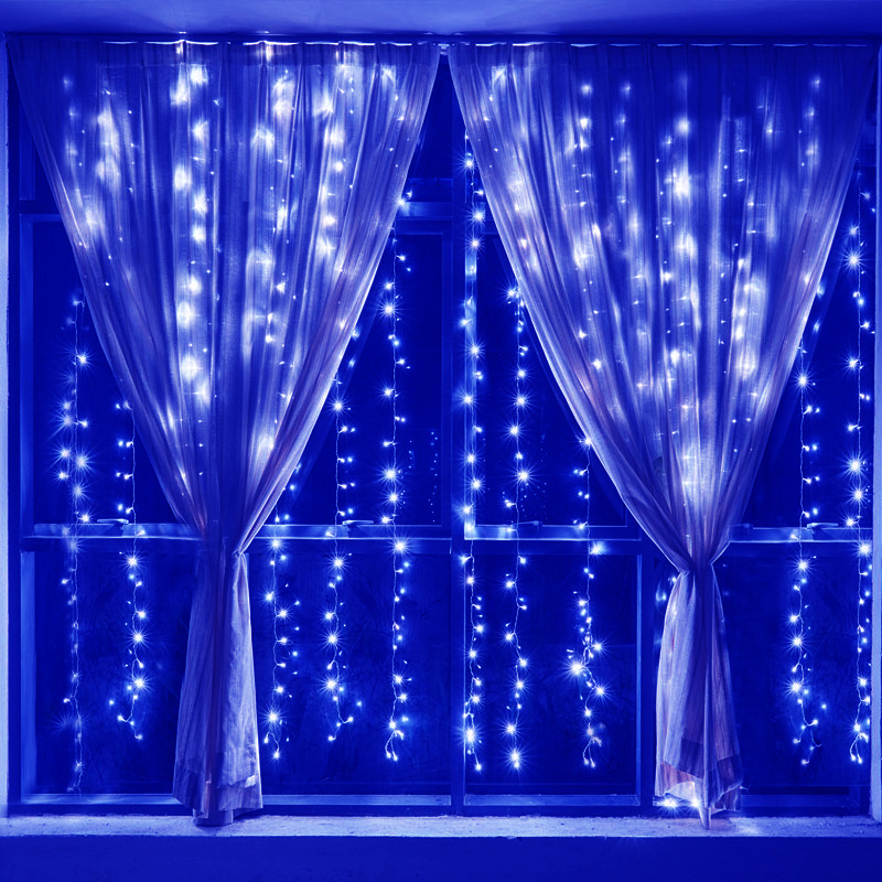 Indoor String Lights Curtain : Outdoor/Indoor LED String Fairy Curtain Light Twinkle Lights Xmas Wedding Market