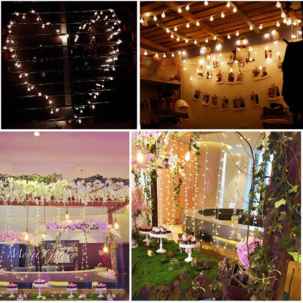 Hanging 10M 100 Ball LED Bulbs String Christmas Fairy Lights Indoor Outdoor Xmas eBay
