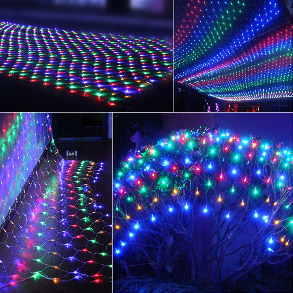 Drape String Lights Ceiling : 3Mx3M 304 LED Warm White Xmas Fairy Mesh String Net Lights Drape Curtain Garden eBay