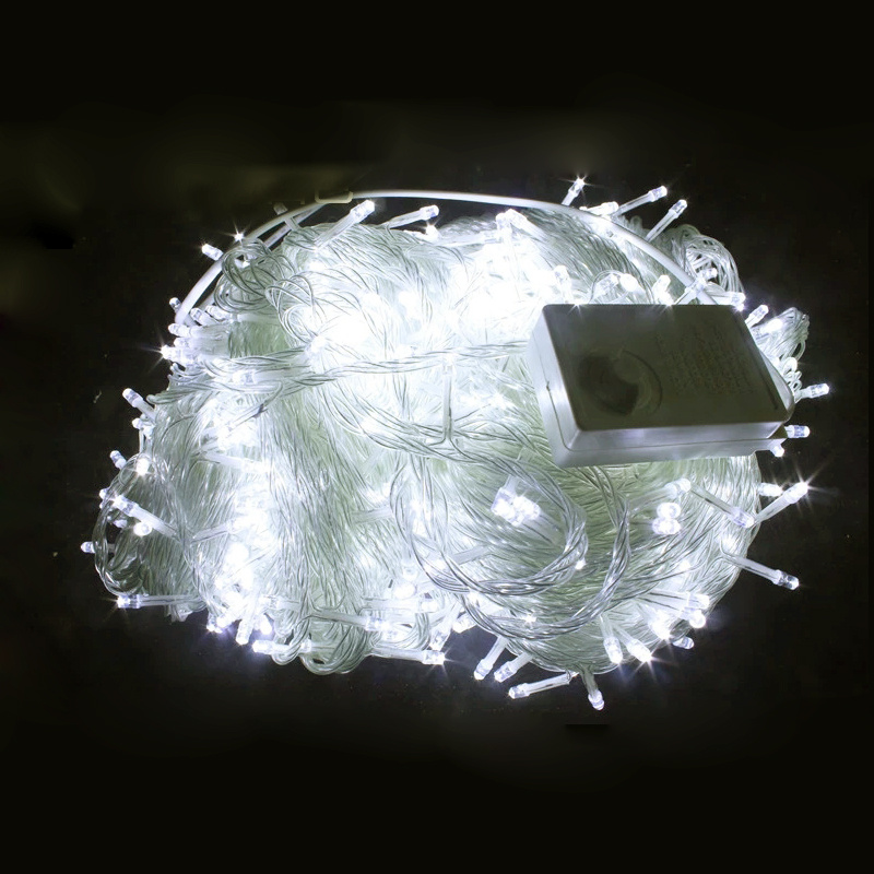 Outdoor String Lights On Fence : 30M 200LED WATERPROOF STRING LIGHT OUTDOOR GARDEN YARD TREE FENCE PERGOLA GAZEBO eBay