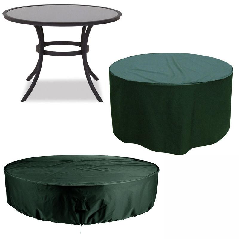 Heavy Duty Waterproof Round Table Garden Patio Furniture Cover & Storage